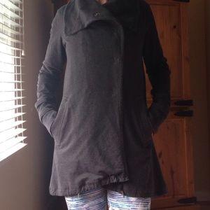 Lululemon Double Breasted Gray Sweatshirt